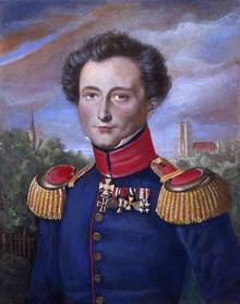 Carl Philipp Gottfried von Clausewitz Author of On War- (Portrait while in Prussian service, by Karl Wilhelm Wach)